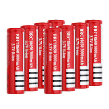 1/2/4/6/8 sztuk/partia akumulator 3.7 napięcie 18650 3000mah baterie BRC 18650 akumulator litowo-jonowy wymienić na Dvd Camera Torch