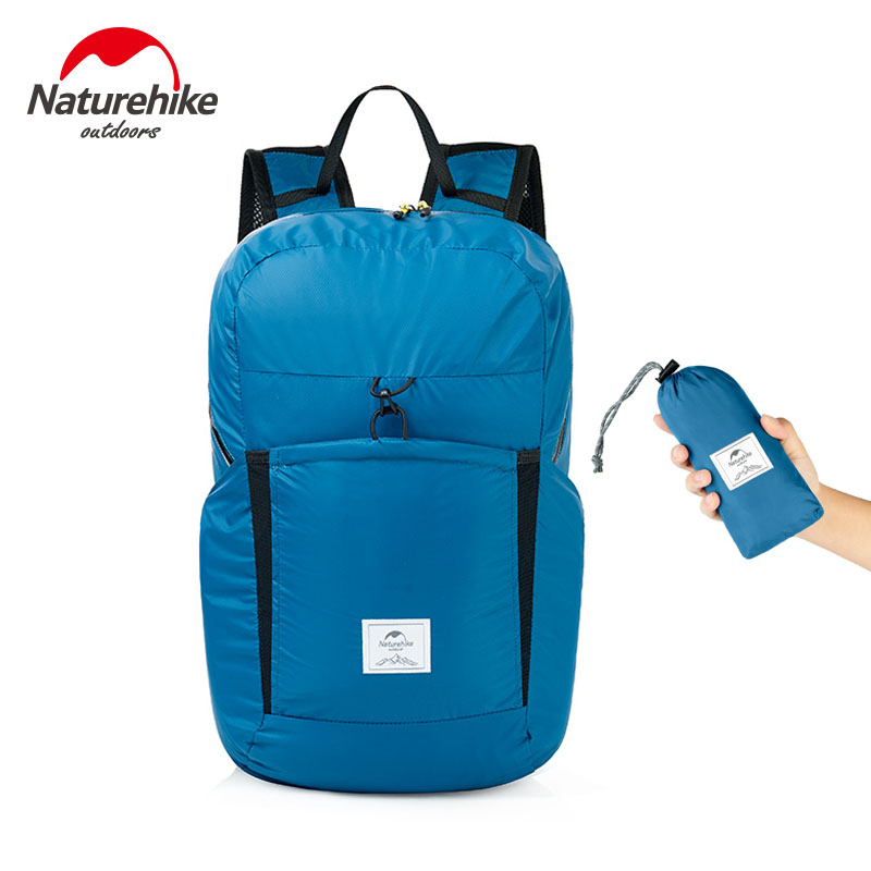 Naturehike Outdoor Shoulder Folding Backpack Ultra Light Waterproof 30D Silicon Coating Nylon Sports Pack Travel City Bag