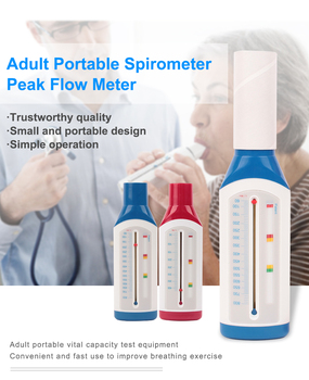 2020 Hot Children Adult Portable Breathing Monitoring Spirometer Lungs Peak Flow Meter For Monitoring Lung Breathing Function image