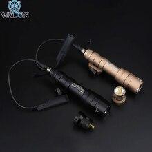 Airsoft Surefir M600 M600DF סקאוט אור 1300lumens סופר מואר רובה נשק טקטי פנס עם מד לחץ מרחוק