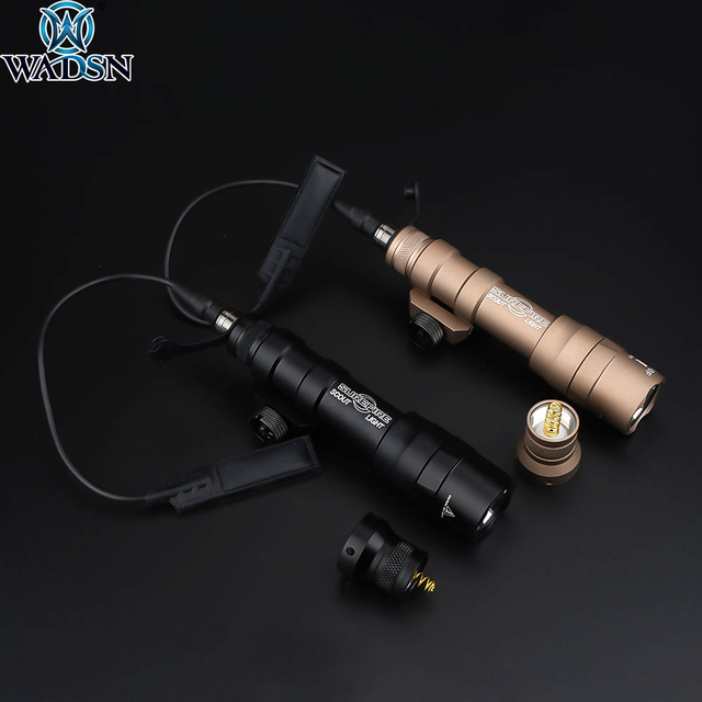 Airsoft Surefir M600 M600DF Scout Licht 1300Lumen Super Heldere Rifle Wapen Tactische Zaklamp Met Remote Drukschakelaar