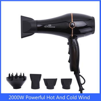 Hair dryer 2000W Powerful Hot And Cold Wind Electric Blow dryer Professional Hairdryer Styling Tools secador de cabelo