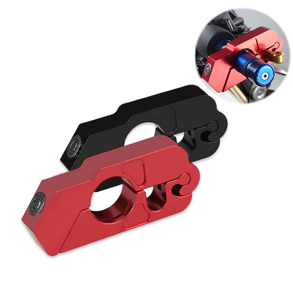 Lever-Lock Grip-Brake Handlebar Most-Scooters Motorcycle Anit-Theft Aluminum CNC Fits