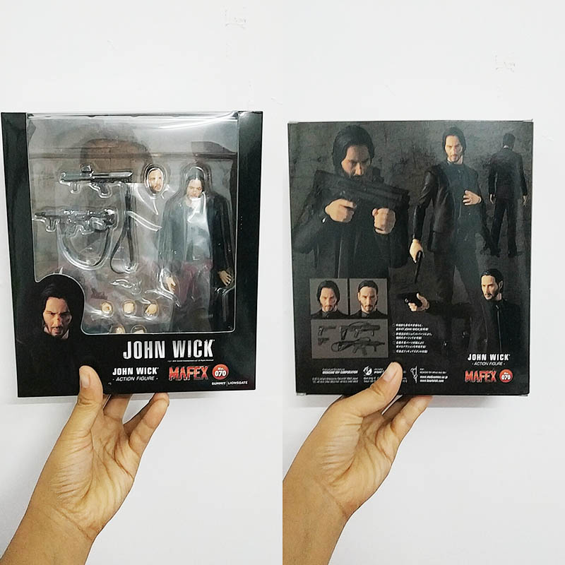 New Mafex 070 JOHN WICK  Action Figure Model Toys Doll For Kids Gift