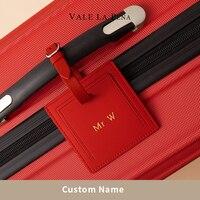 Kreative Personalisierte Initial Reise Zubehör Hohe Qualität Tragbare Label Gepäck Koffer Internat Tag Anpassung