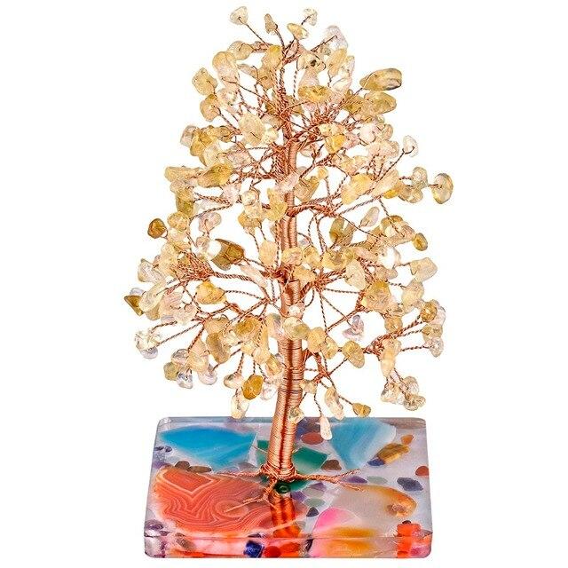 Натуральное лечебное Хрустальное дерево tumbeelluwa с агатом