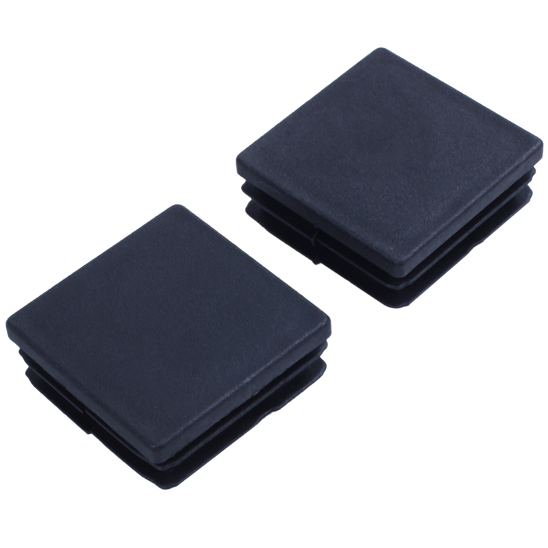 Promotion! Plastic Square Tube Inserts End Blanking Cap 38mm X 38mm 10 Pcs Black