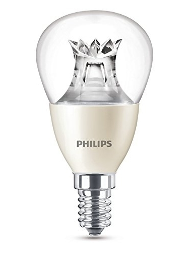 Philips Lighting Bombilla Gota Vela LED De Luz Cálida, 6W/40 W, Casquillo E14, Regulable, 6 W, Blanco, 40 W