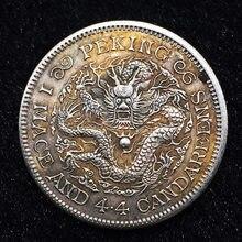 Mascarilla de Feliz Navidad Regalo de moneda de Dragón Volador, moneda de oro Real, monedas mágicas, colección de arte de monedas chinas, modelo 029