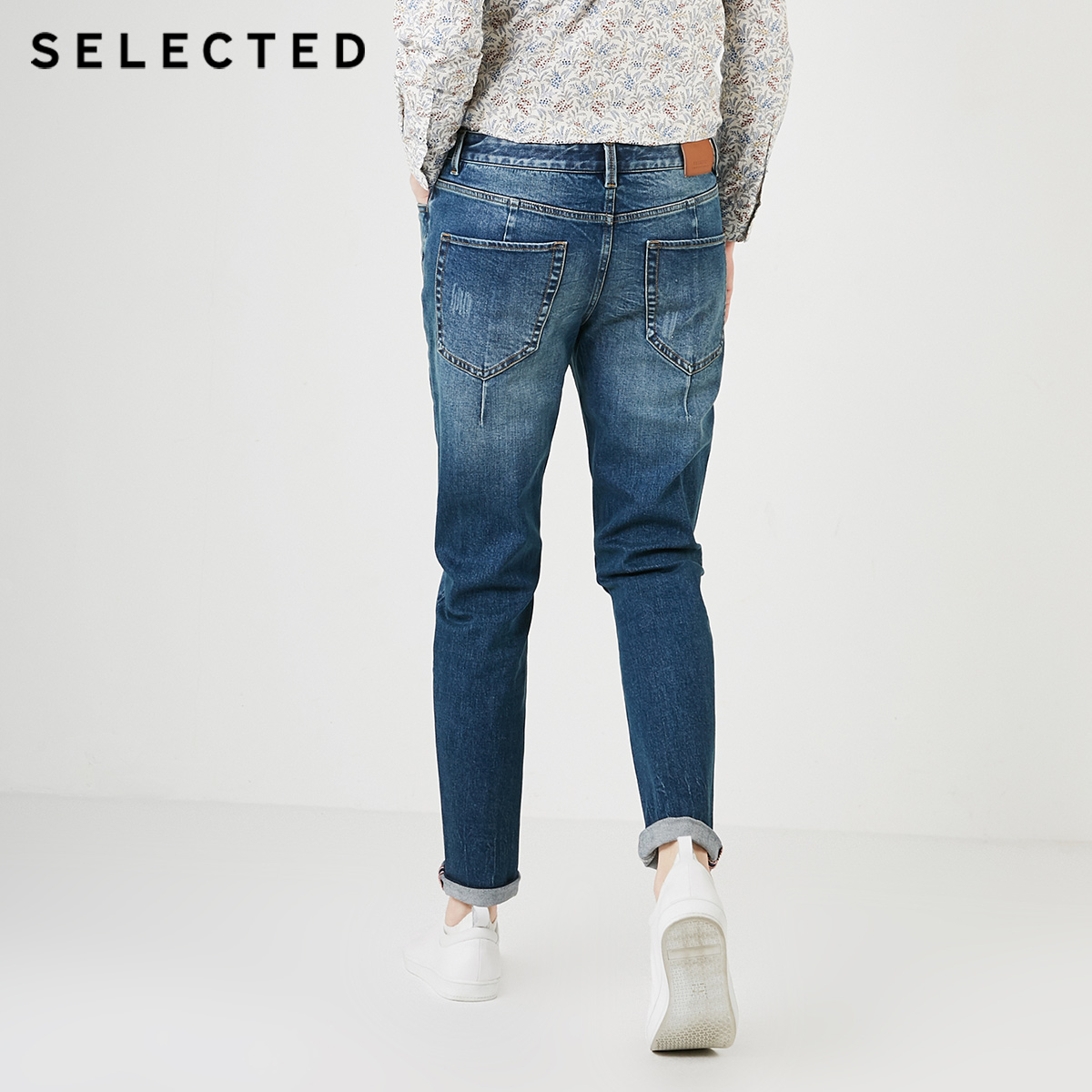 Image 3 - SELECTED Mens Summer Lycra blend Denim Pants Fading Tight leg Jeans C419132535Jeans