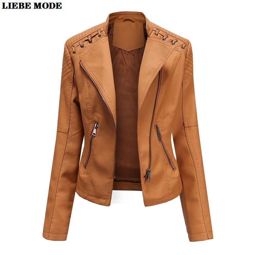 Купить куртка женская байкерская облегающая из искусственной кожи на