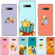 Usa cartoon nette bär Abdeckung Schwarz Soft Shell-Fall Für Samsung Galaxy S5 S6 S7 S8 S9 S10 S10e s20 rand plus lite(China)