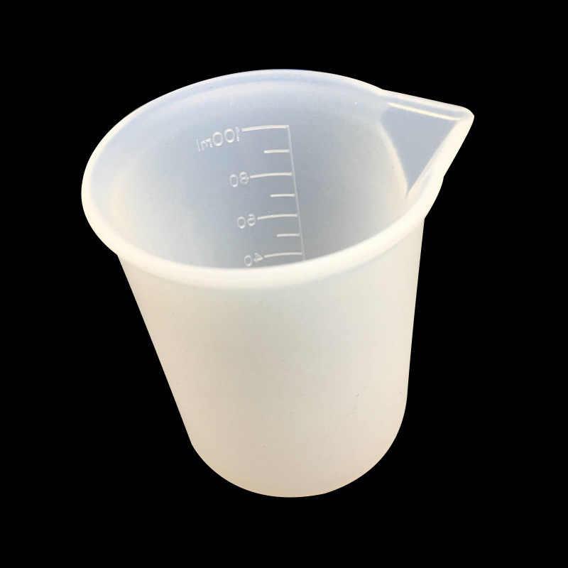 1 Uds. Dispensador de taza de molde de silicona resina epoxi DIY para la fabricación de joyas herramienta de modulación de Color joyería accesorios herramientas equipos