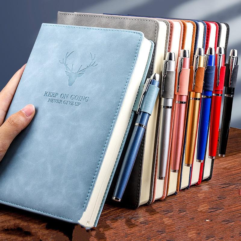 360 страниц супер толстый A5 дневник ежедневный бизнес офисный Рабочий ноутбук простой толстый колледж офисный Дневник Школьные принадлежности 1