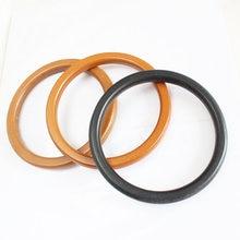 Круглая деревянная ручка ручной работы сумка аксессуар круглая