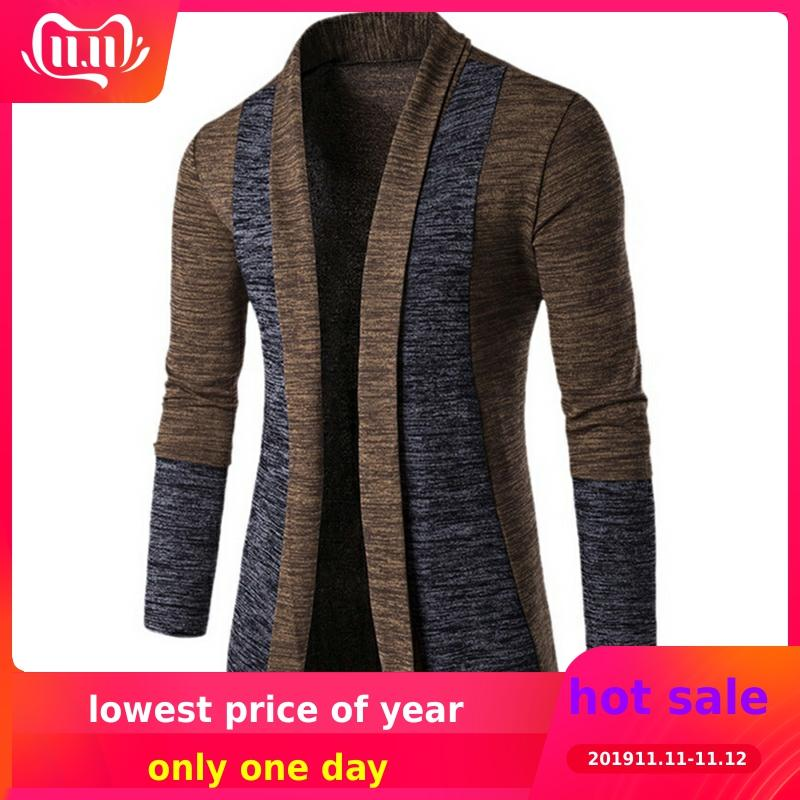 2019 New Cardigan Sweater Men Casual Mens Sweaters Knit Sweater Autumn Winter Warm Mens Jumper Sweater Male Outwear Coat