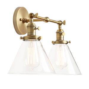 Image 2 - Permo 現代の壁灯壁ランプ燭台 7.3 漏斗ガラスランプシェード wandlamp 寝室ミラーライトロフト装飾照明器具