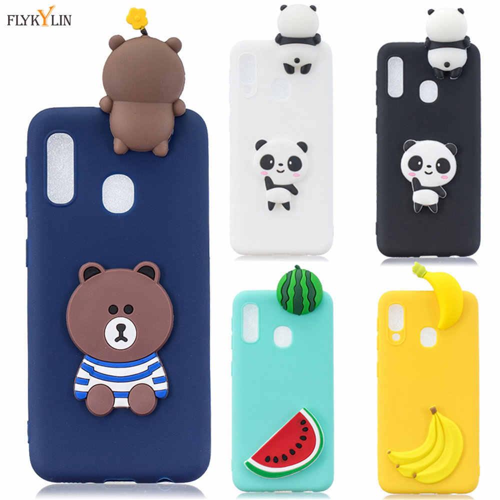 Silicone cover For Samsung Galaxy A10 A20 A20 A30 A40 A50 A60 A70 A80 Case For Coque Samsung M10 M20 M30 3D Panda Soft case Capa
