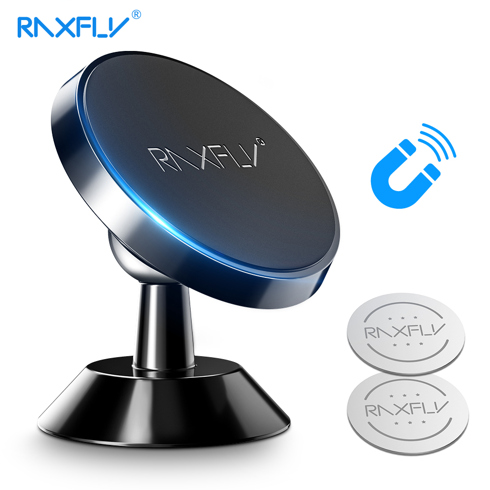 RAXFLY Magnetic Car Phone Holder For Xiaomi Redmi Note 7 Mi 9 360 Rotation Car Holder For IPhone X XS Max 7 8 Phone Stand Holder
