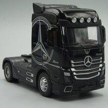 Tracteur en métal moulé sous pression 1:50, modèle de camion, jouet en retrait avec son et lumière