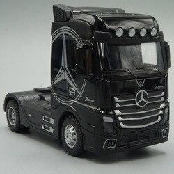 1:50 литья под давлением металлическая модель грузовика игрушки трактор тянуть обратно со звуком & светильник