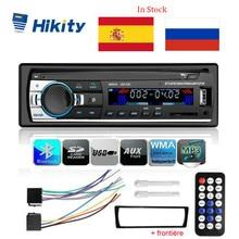 Hikity Автомагнитола 1 Din Bluetooth SD MP3 плеер JSD-520 Стерео FM Aux вход приемник SD USB