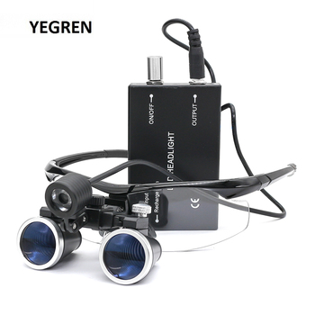 Dental Loupe Magnifier Medical Surgery Loupes 2.5X /3.5X Binocular LED Head Light Rechargeable for Dentist