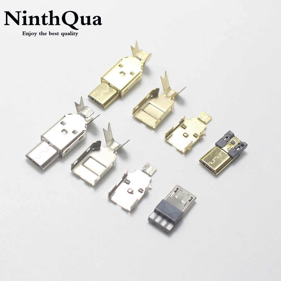 Cables 5-200 PCS Cable Length: 10 pcs SMT Long pin Micro USB Jack Mini 5-Pin USB Jack Socket Connector Dock Charger Connector Port U033m