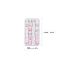 96 sztuk 4 pudełka dzieci sztuczne paznokcie pełna okładka fałszywe paznokcie naklejka do paznokci cheap CN (pochodzenie) Girl Fake Nails Artificial Nails Full Cover Nail Tip Girls False Nail Press On Nails
