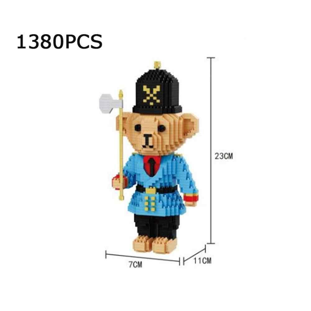 Hot LegoINGlys creador clásico pequeño oso soldado mini micro diamante bloques de construcción modelo muñeca figuras ladrillos para regalos