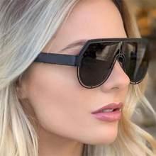 Yeni mat siyah Metal boy güneş gözlüğü moda 2020 içi boş çerçeve büyük Pilot güneş gözlüğü renkli Lens Womens Shades erkekler maskesi