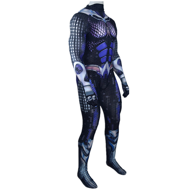 Aquaman Orm Marius Ocean Master Cosplay Costume Zentai Bodysuit Adults Kids One Piece Tight Suit Jumpsuits