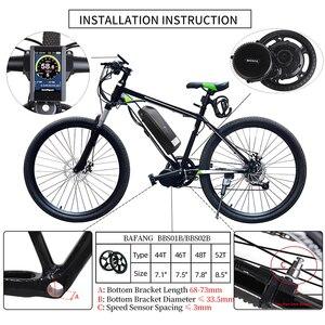 Image 3 - Ebike 48 فولت 750 واط Bafang BBS02B منتصف محرك دراجة نارية إلكترونية أطقم تحويل 68 73 مللي متر E الدراجة 8FUN محرك قوي أحدث نسخة