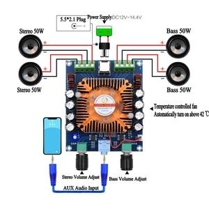 Image 2 - XH A372 TDA7850 Vier Kanal 50W * 4 HIFI Auto stereo Audio Verstärker Bord subwoofer verstärker Bass AMP Heimkino