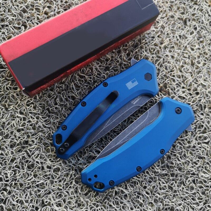 Kersh OEM C07 1776 Folding Knife 440C Blade Aluminum Handle Camping Survival Pocket Knives Outdoor EDC Hand Tools
