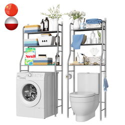 Над стойкой шкаф для ванной комнаты стиральная машина стойка бумажная вешалка для полотенец космическая полка для домашнего хранения полк...