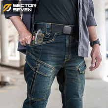 Setor sete 2020 nova cidade magro casual jeans men meados de cintura reta jeans clássico indigo azul preto jeans wear resistantJeans