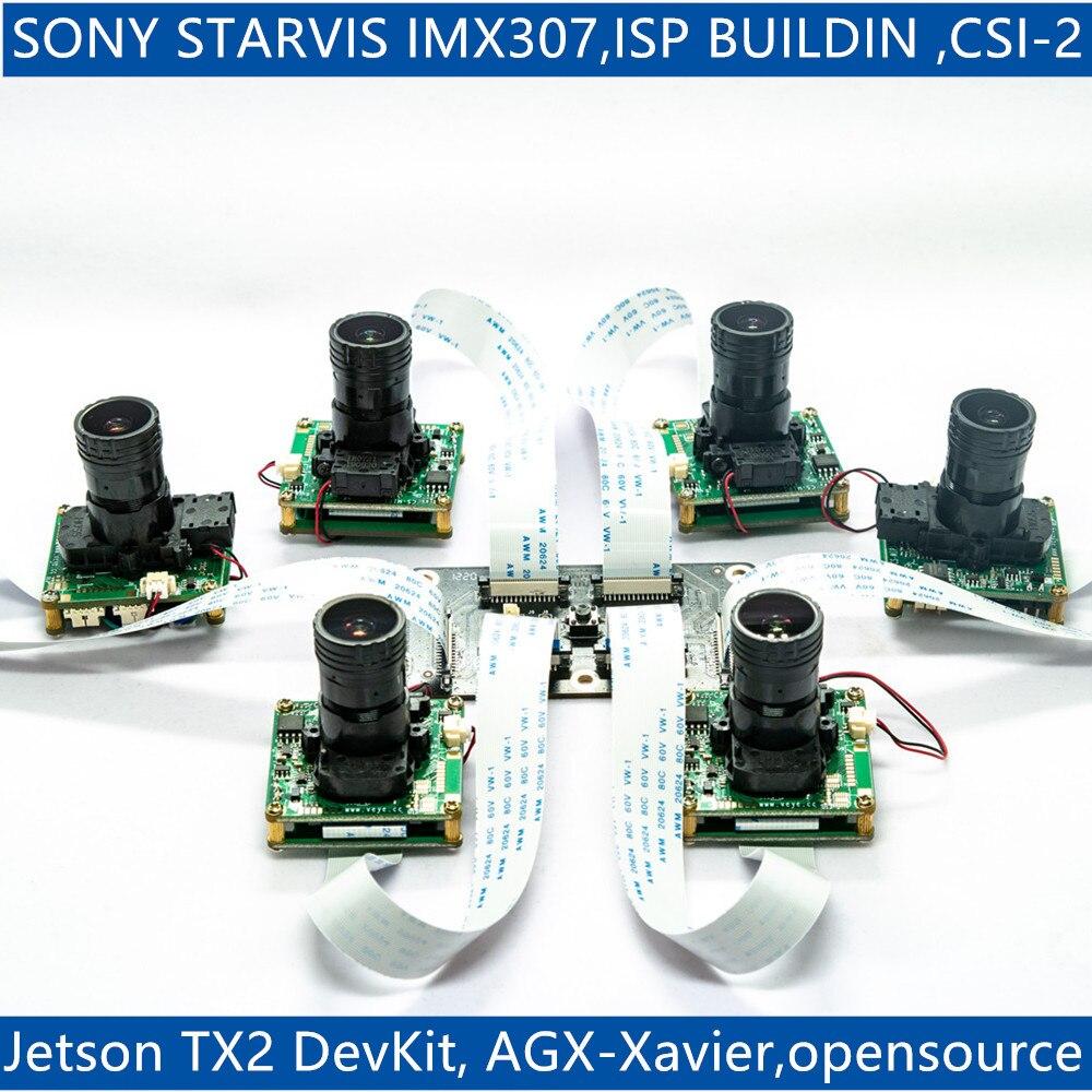 CS-TX2-XAVIER-nCAM-IMX307 For Jetson TX2 Devkit And Xavier, IMX307 MIPI CSI-2 2MP Star Light ISP Camera Module
