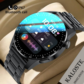 2021 New Fashion Men Smart Watch Steel Luxury Waterproof Sport Fitness Heart Rate Bluetooth Call Smartwatch For Android IOS +Box