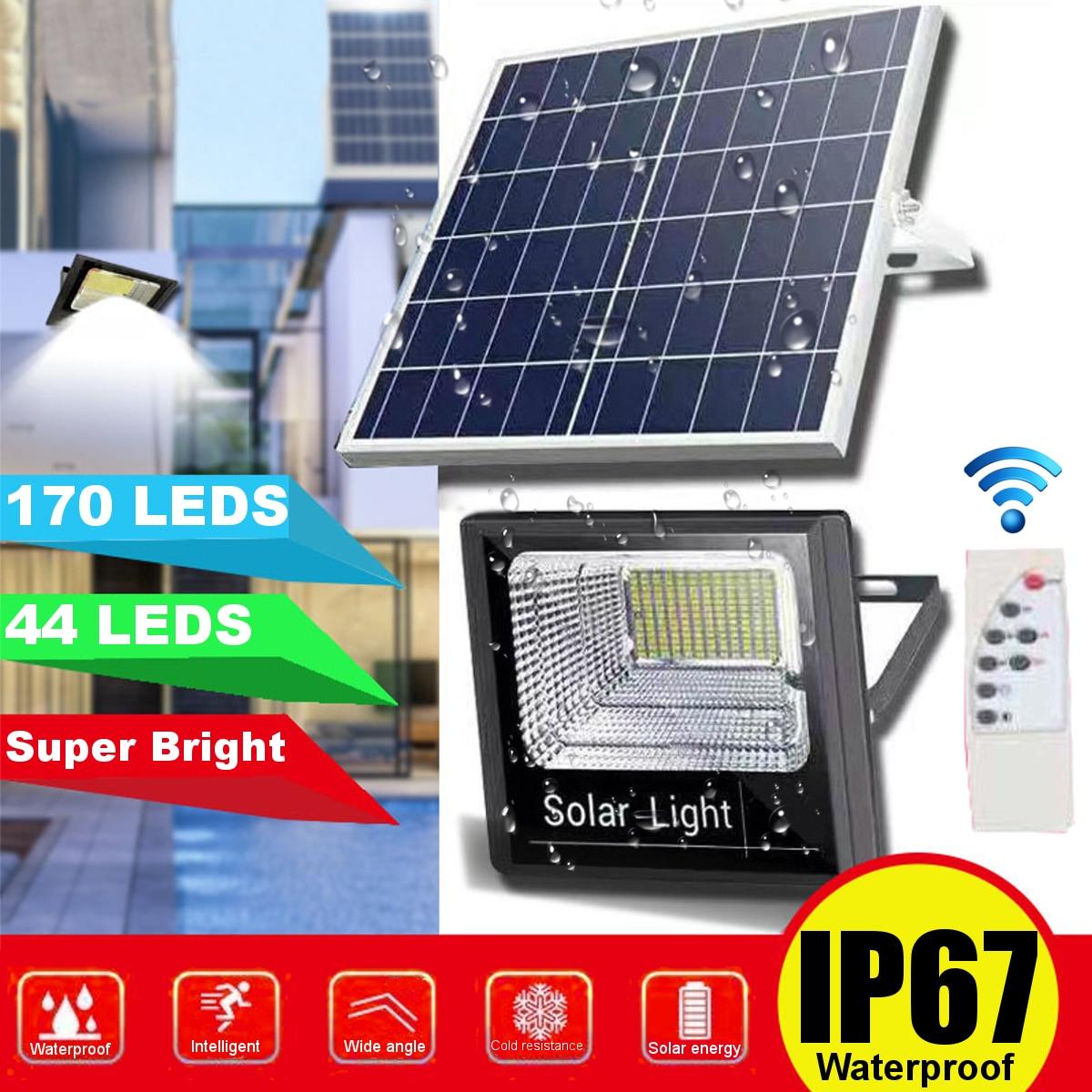 Солнечный свет движения PIR Сенсор 44/170 светодиодный настенный светильник с дистанционным управлением Управление Водонепроницаемый фонарь ...
