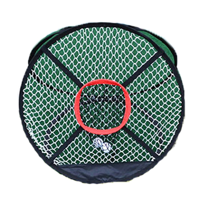 Portable Foldable Golf Chipping Net Outdoor Pitching Cages Mats Indoor Collapsible Golfing Target For Practice Training Aids