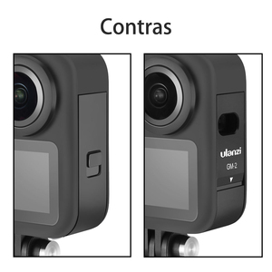Image 3 - Ulanzi GM 2 Gopro Max Battery Cover Detachable Battery Lid Type C Charging Port for GoPro Max Accessories