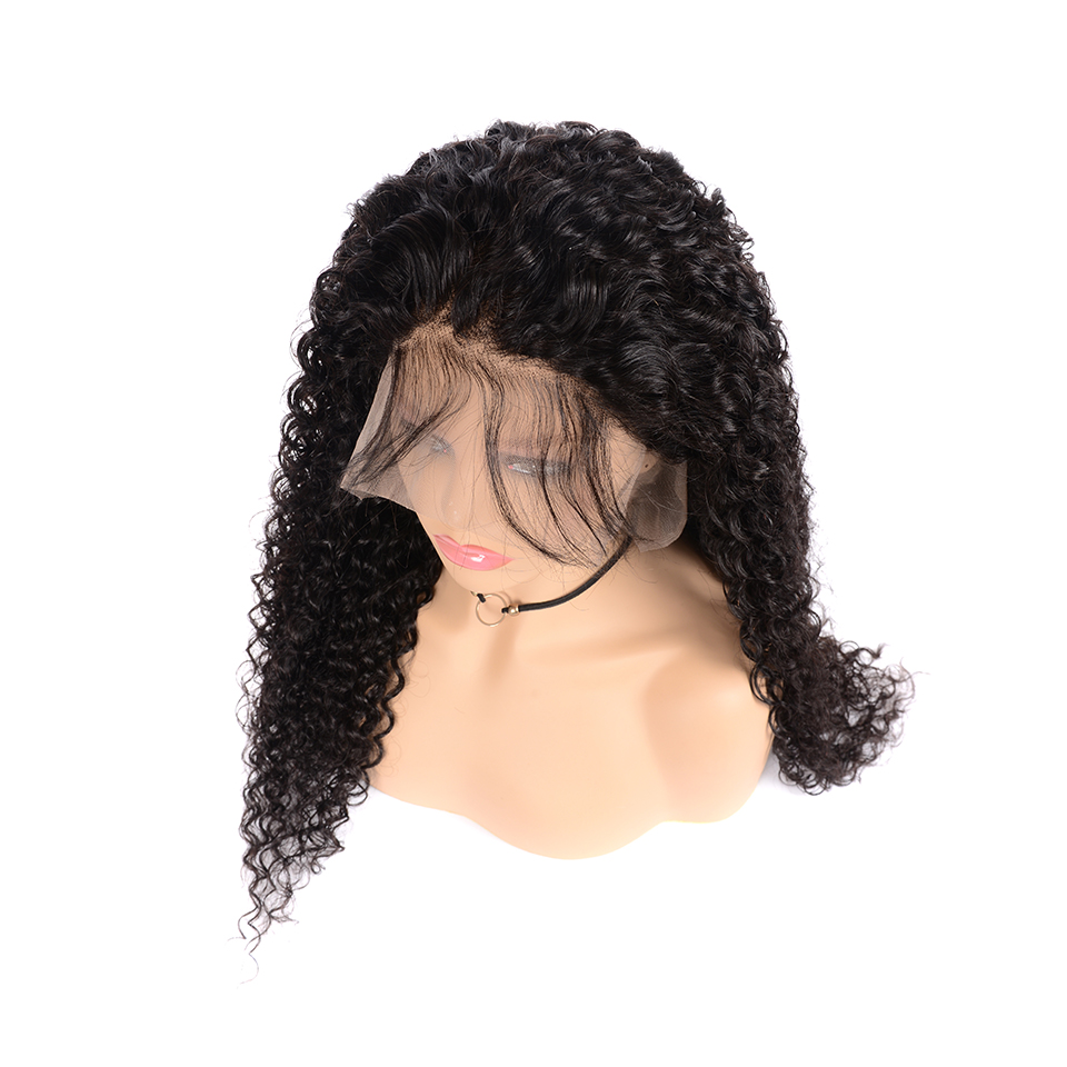 Brazilian Jerry Curly 13x6 Lace Front Wigs Human Hair Pre-Plucked Hairline With Baby Hair