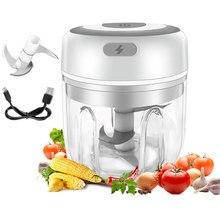 250ml mini usb sem fio elétrico espremedor de alho imprensa picador resistente legumes pimenta moedor carne chopper alimentos cozinha ferramentas
