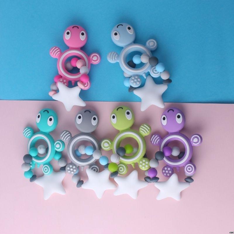 Child Baby Pacifier Teether Soothing Boys Girls Cute Tortoise Orangutan Shape Design Kids Comfort Supplies
