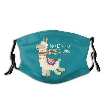 Lama Mouth Face Mask No Drama Llama Facial Mask Adult with Filters Fashion Nice Mask