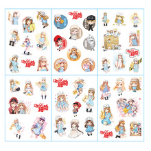 6pcs/lot Hataraku Saibou Anime Stickers Pegatinas Book Sticker Pack Classic Toys Skateboard Doodle Sticker Toys