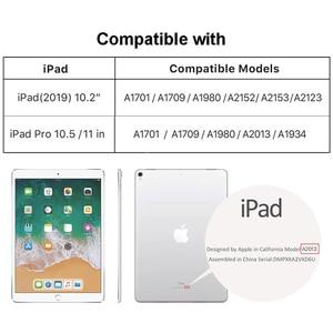 """Image 5 - Funda Retro de piel auténtica para iPad Pro, funda con soporte de mano, 10,5 """", Air 3, 10,2"""", 11 """", 2020"""