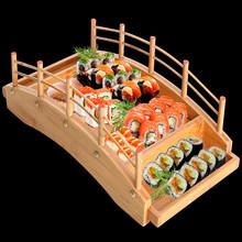 Japońska drewniana kuchnia drewniana Sushi most łodzie sosna kreatywne Sushi Sashimi talerz półmisek Sushi zastawa stołowa Ornament dekoracyjny tanie tanio CN (pochodzenie) Ekologiczne Na stanie Drewna Łódki na sushi sushi set