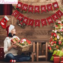 PATIMATE Christmas Banner Merry Decorations For Home 2019 Decoration Navidad Natal Gifts Happy New Year 2020